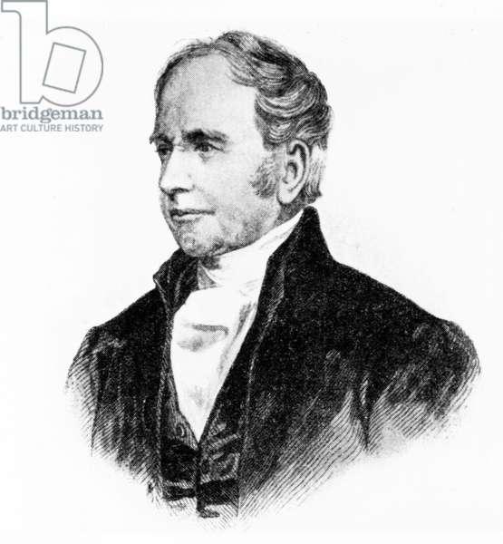 George Bradshaw, British originator of railway guides, c 1850s