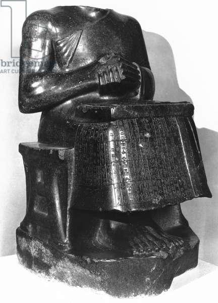 Statue of Gudea, prince of Lagash, 2125-2110 BC