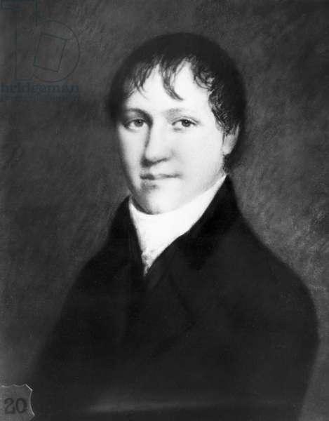 Sir Humphry Davy , English chemist, c 1800