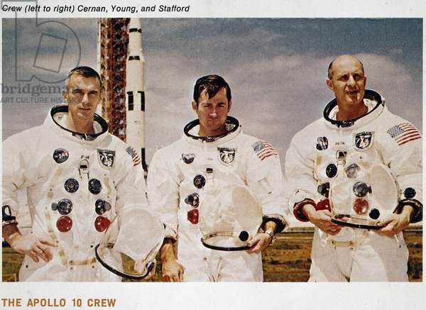Manned Space Flight, USA, Apollo 10 Apollo 10 crew and Saturn V rocket, 1969