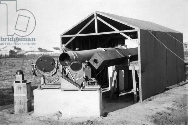 Telescope used to observe a total solar eclipse, Sobral, Brazil, 1919