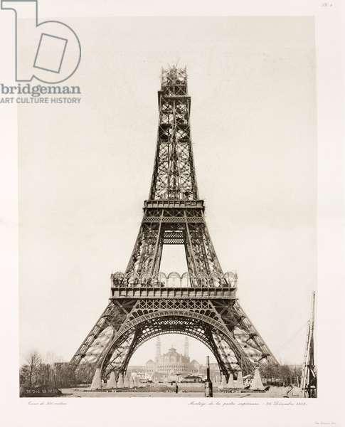 Construction de la Tour Eiffel - Building Construction & Repair Erection of the upper section, Eiffel Tower, Paris, 26 December 1888