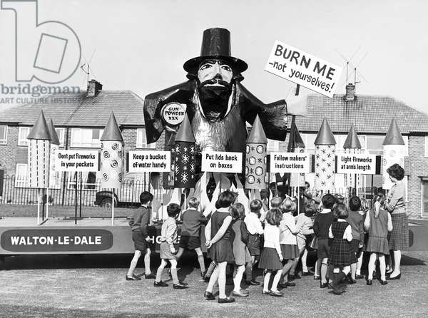 Guy Fawkes, Bamber Bridge school, November 1964
