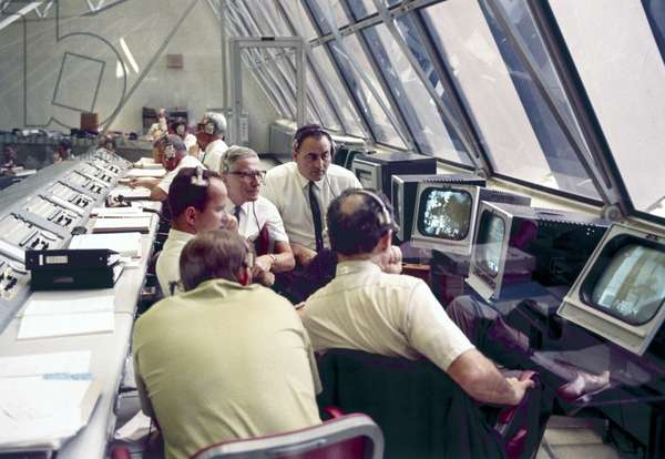 Space Centres Launch Control Centre, Kennedy Space Centre, Cape Canaveral, Florida, 1970s