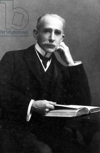 Sir John Ambrose Fleming, English physicist and electrical engineer, 1904
