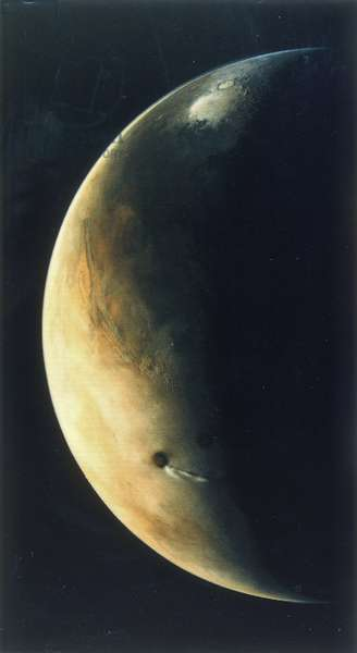 View of Mars from the Viking 2 Orbiter, August 1976