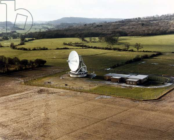 Space Centres British satellite receiving station, Oakhanger, 1980