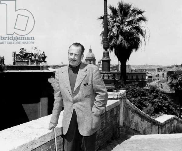 John Steinbeck in Rome, 1964 (b/w photo)