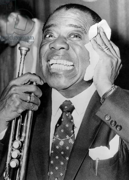 Louis Armstrong, 1959 (b/w photo)