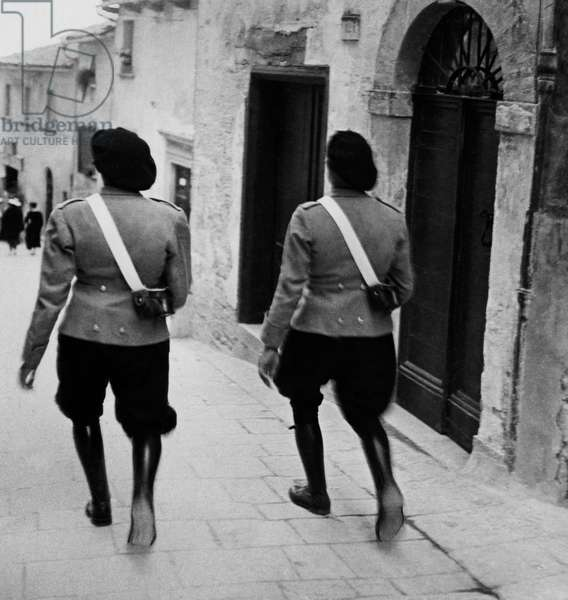 Republican Guards, the Republic of San Marino, 1949 (b/w photo)