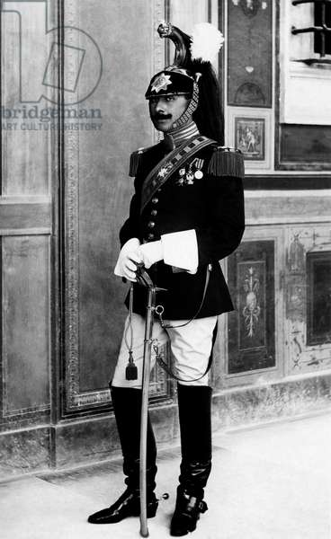 Noble Guard in dress uniform, 1920 (b/w photo)