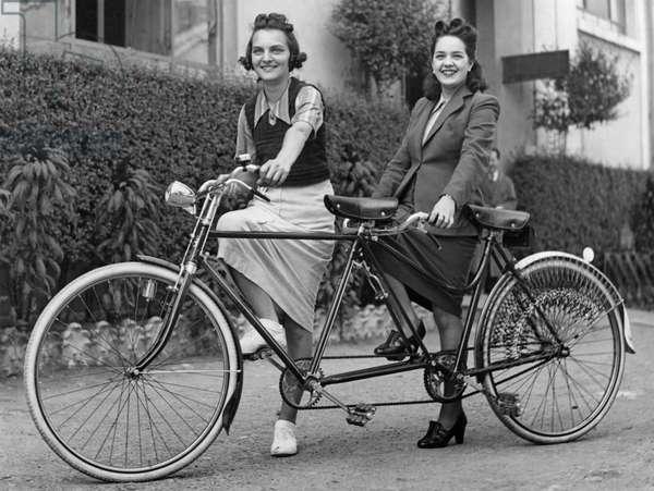 Tandem, 1940 (b/w photo)