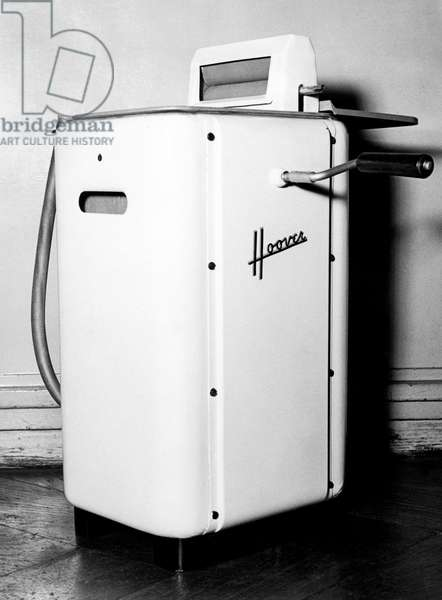 Mechanical Washing Machine Model, 1952 (b/w photo)