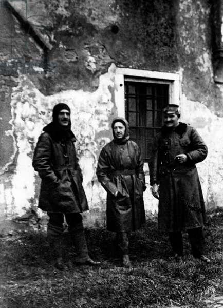Luigi Rizzo, Gabriele D'Annunzio, Costanzo Ciano, Beffa Di Buccari, 1918 (b/w photo)