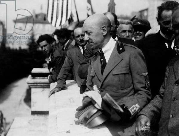 Gabriele D'Annunzio, 1920 (b/w photo)