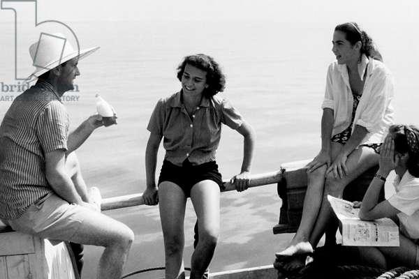 Tourists, 1947 (b/w photo)