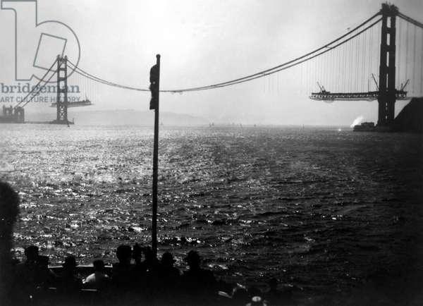 San Francisco, Golden Gate Bridge, September 1936 (b/w photo)
