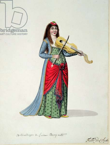 Daughter of Sultans, Ottoman period, third quarter of 18th century (w/c on paper)