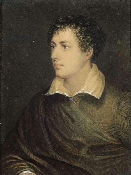 George Gordon, 6th Lord Byron (1788-1824) (coloured print)