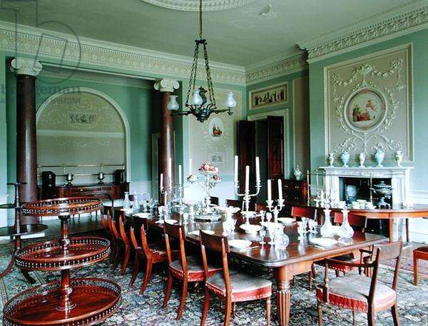 View of the Dining Room, Calke Abbey, Derbyshire (photo)
