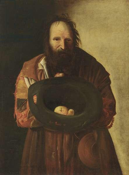 A Beggar (oil on canvas)