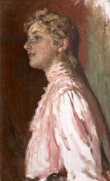 Agatha Miller, later Agatha Christie (oil on canvas)