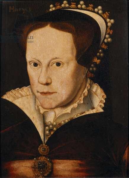 Portrait of Mary Tudor (oil on panel)