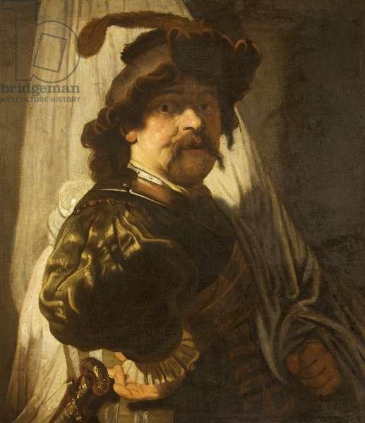 The Standard-Bearer (after Rembrandt)