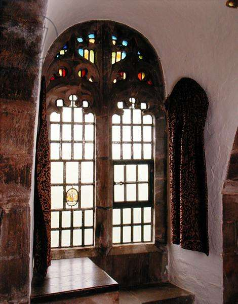 The Neo-Gothic window and curtain in the Dining Room (photo)