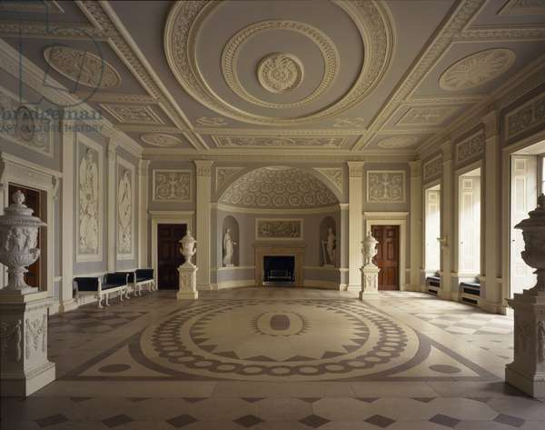 Fireplace niche in the Hall, Osterley Park, Middlesex, UK, c.1766, built by Robert Adam (1728-92) (photo)