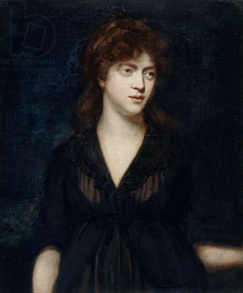 Amelia Alderson, wife of the artist (oil on canvas)