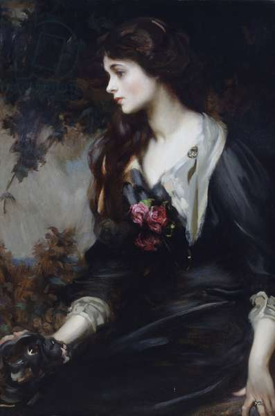 Lady Marjorie Manners, aged seventeen, c.1900 (oil on canvas)