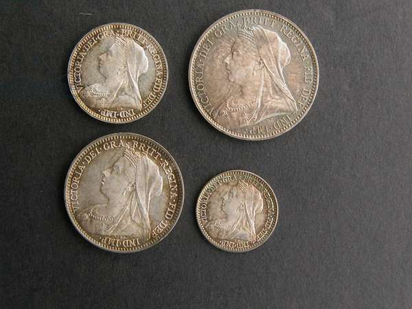 Set of Maundy coins, 1894 (silver)
