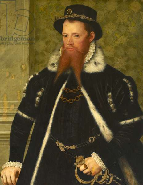 A Member of the Tichborne Family, aged 38, 1559 (oil on panel)