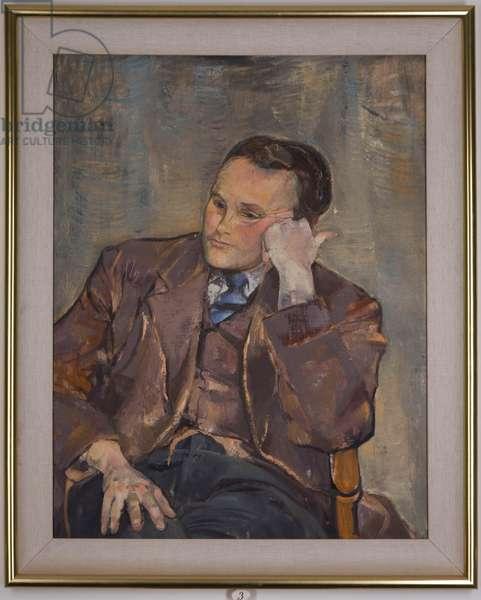 Derek Hill, 1953 (oil on canvas)