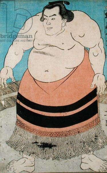 Sumo wrestler (woodblock print)