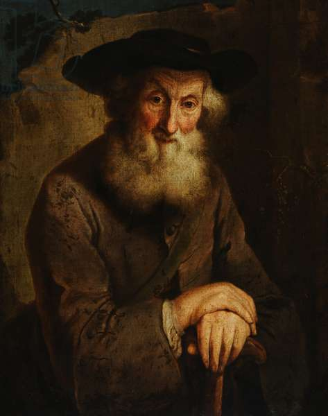 Study of an Old Man called Thomas Parr, 'Old Parr' (oil on canvas)