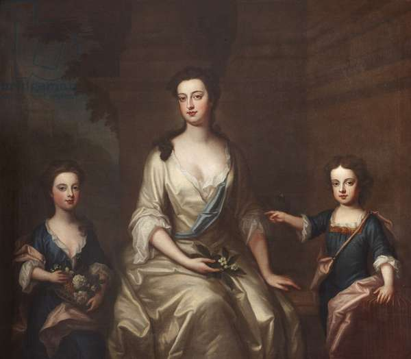 Elizabeth Felton, Countess of Bristol (1676-1741), with her Children Lady Henrietta Hervey (1703-1712) and her Twin Brother Lord Charles Hervey (1703-1786)