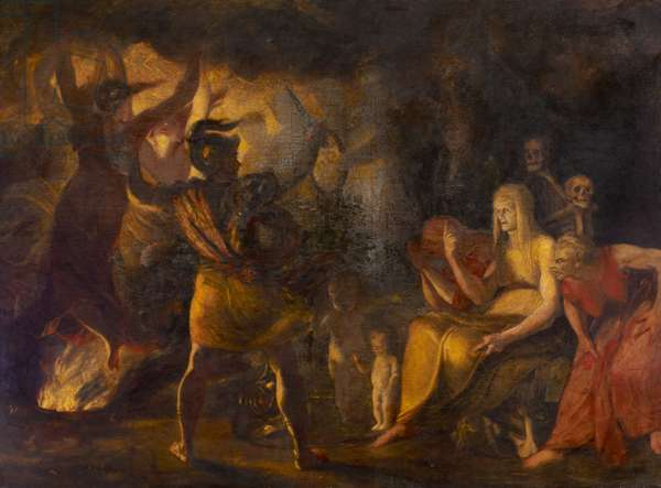 Macbeth and the Witches, 1786 (oil on canvas)