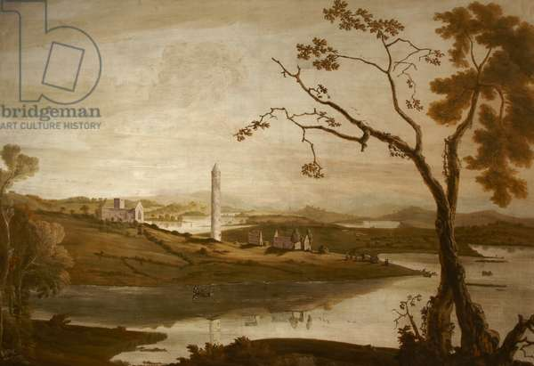 Devenish Island, Co. Fermanagh, c.1780-90 (oil on canvas)