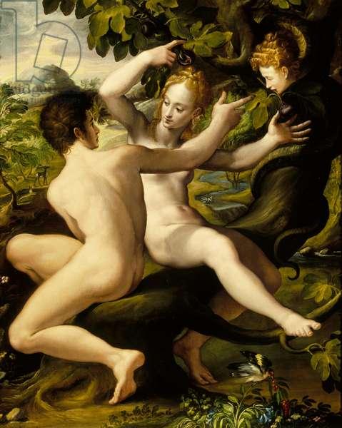 The Temptation (oil on panel)