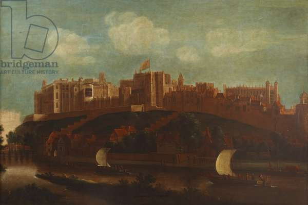 View of Windsor Castle, and Boats on the River Thames