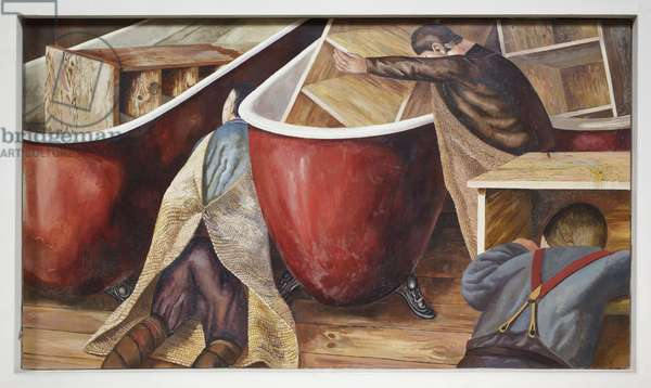 Washing Lockers, 1929 (oil on canvas)
