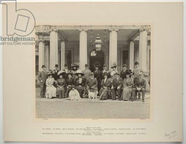 Edward VII's visit to Crichel, May 1909 (b/w photo)