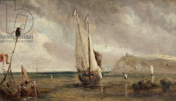 Shore Scene with a French Fishing Boat