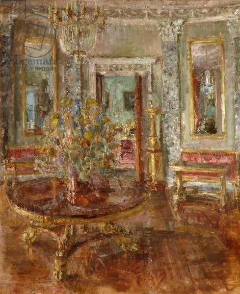 The Saloon at Castle Coole, 1987 (oil on canvas)