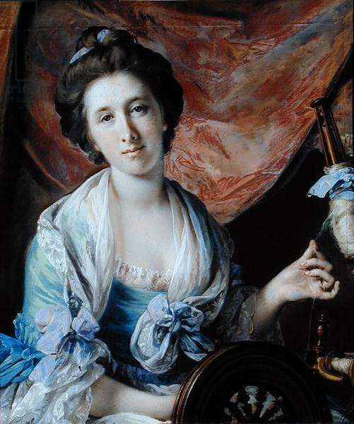 Portrait of Lady Hoare (oil on canvas)