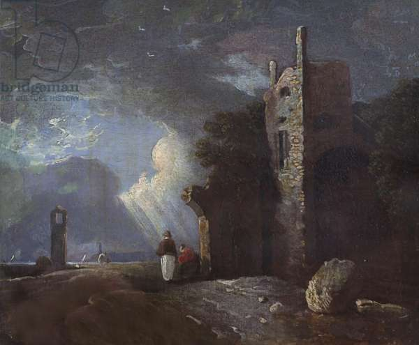 Two Figures by a Ruin