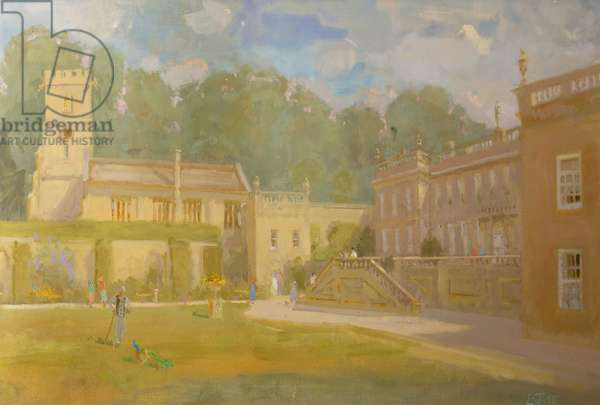 Dyrham Park in Summer Haze, 1995 (oil on canvas)