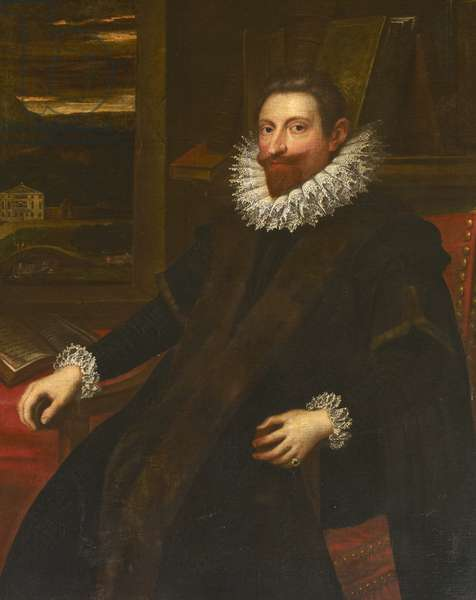 An unknown gentleman, possibly a Venetian, but formerly called Robert Hopton, early 17th century (oil on canvas)